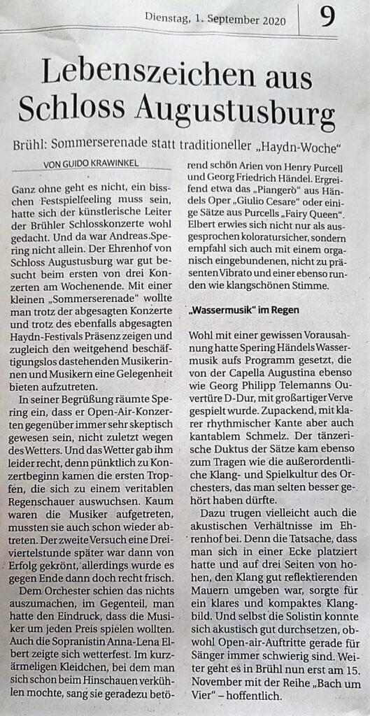 Bonner Generalanzeiger, 01.09.2020